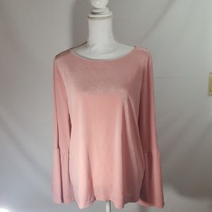 Ann Taylor Women's Bell Sleeved Velour Top Sz XL